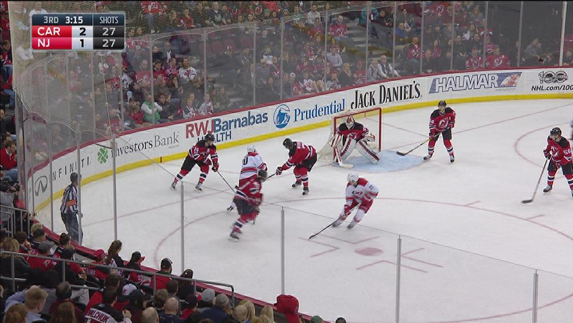 Aho's second goal of the game